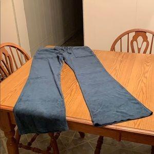 Juicy Couture velvet pants, size medium, Teal.